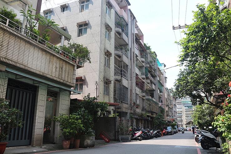 台北トップクラスの人口密度を誇る中和の住宅街