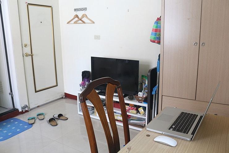 台湾賃貸物件(一人暮らし用ワンルーム)の部屋内