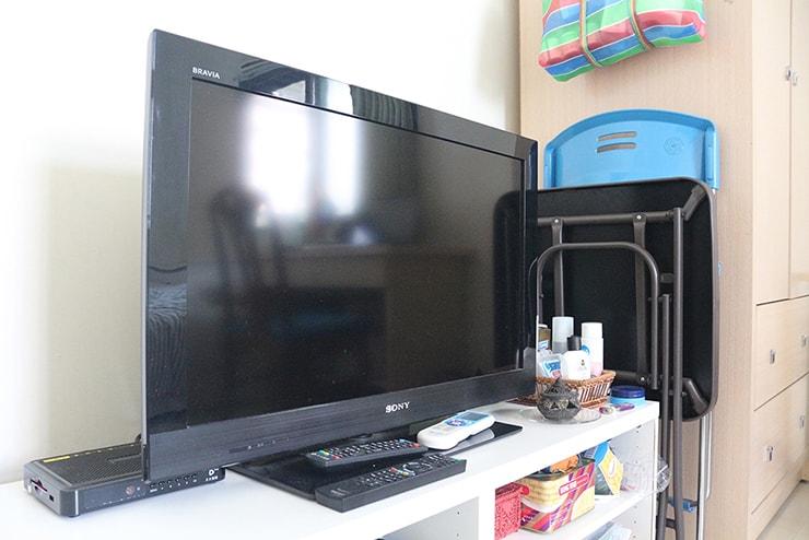 台湾賃貸物件(一人暮らし用ワンルーム)についているテレビ