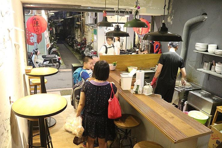 台北・永安市場「麻辣桑麻辣燙」の店内