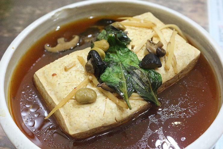 台北・永安市場「豆腐殿臭豆腐」の現蒸臭豆腐
