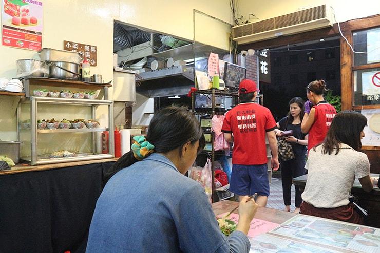 台北・永安市場「豆腐殿臭豆腐」の店内