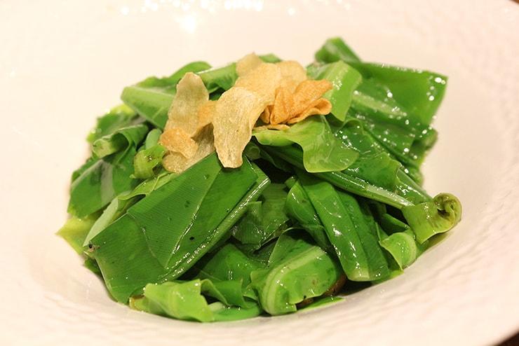 本格台湾料理レストラン「參和院(忠孝店)」の清炒樹子山蘇