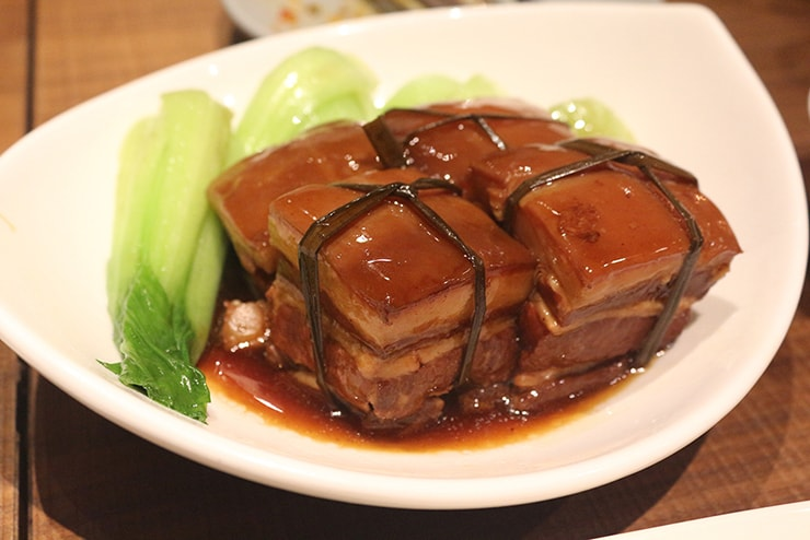 本格台湾料理レストラン「參和院(忠孝店)」の台湾式豚角煮「東坡肉」