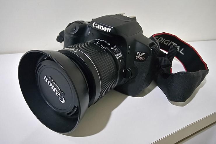 一眼レフカメラ「canon eos650d」