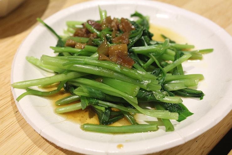 台北海外ブロガーオフ会2016で振る舞われた燙青菜
