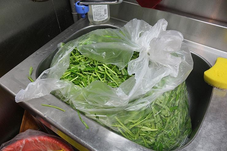 台北海外ブロガーオフ会2016の山盛り空心菜