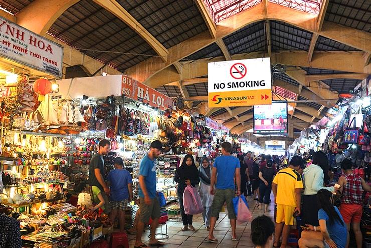 ベトナム・ホーチミン「ベンタイン市場」の内部