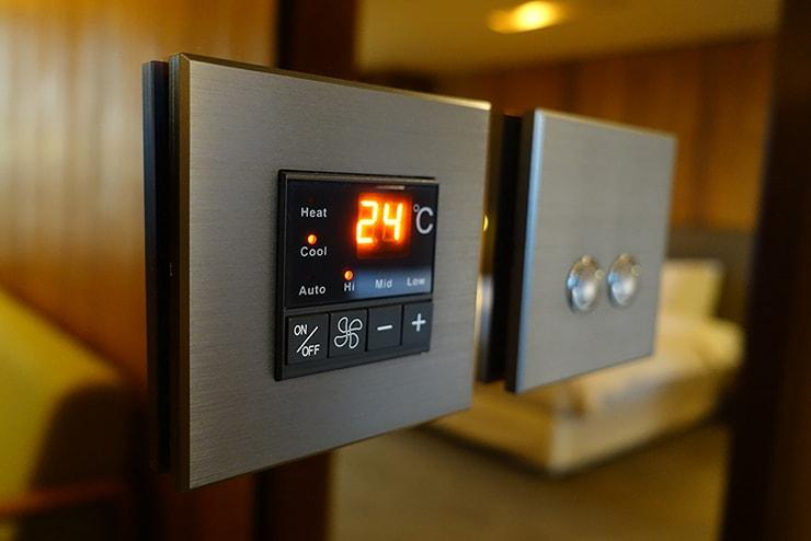 台北・信義區のLGBTフレンドリーホテル「home hotel」逸寬套房のエアコン