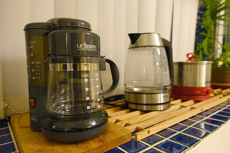 ゲイ向けairbnb「misterbnb」で予約したVhouseのコーヒーメーカー