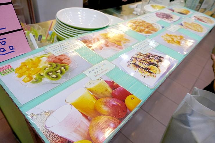 台北・雙連の大人気マンゴーかき氷店「冰讚」のメニュー