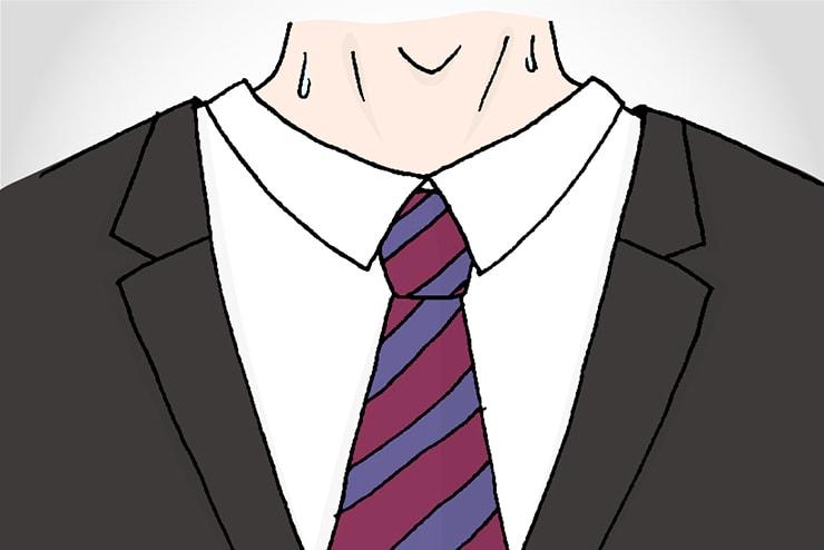 スーツ姿で面接に望む就活生