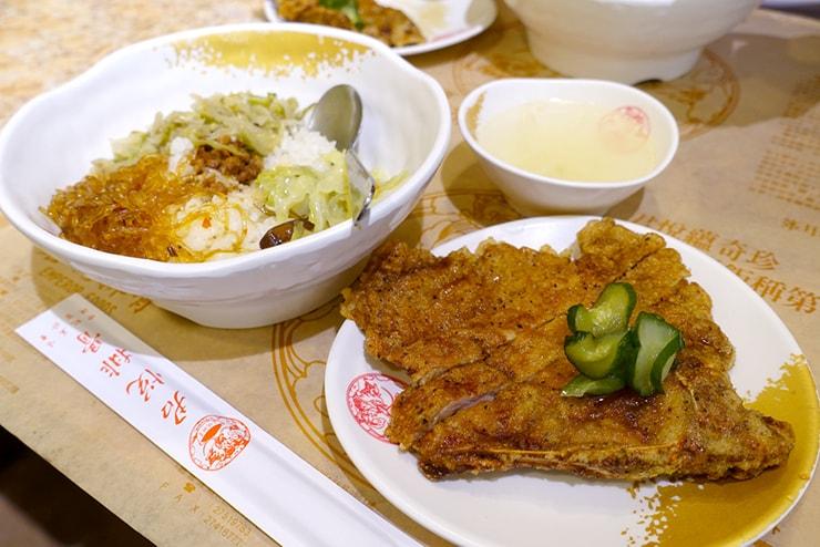 台北・南京復興「君悅排骨」の排骨飯