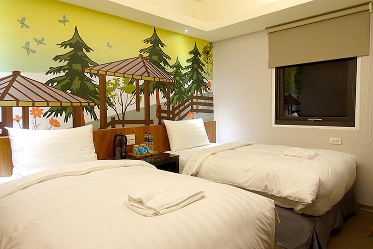 花蓮駅前のおしゃれホテル「回然慢時旅店 Meci Hotel」ツインルーム