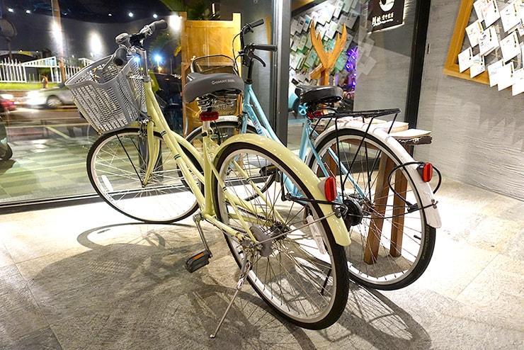 花蓮駅前のおしゃれホテル「回然慢時旅店 Meci Hotel」の無料レンタサイクル
