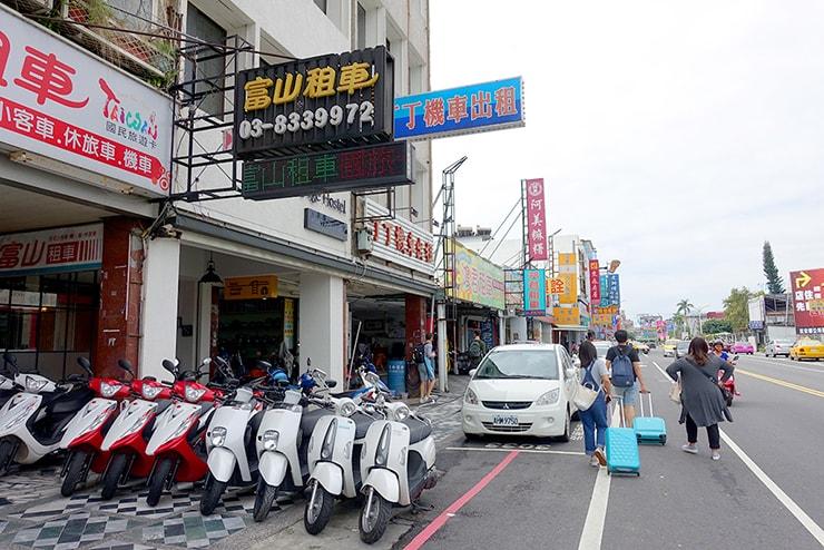 花蓮・國聯一路のレンタルバイク店