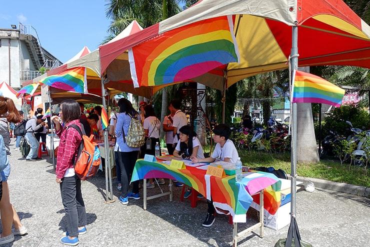 花蓮彩虹嘉年華(花蓮LGBTプライド)2016の参加受付ブース