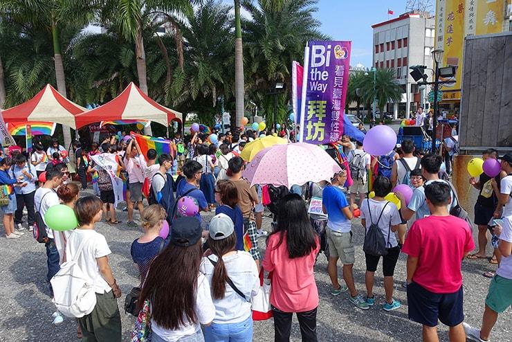花蓮彩虹嘉年華(花蓮LGBTプライド)2016のパレード出発前の会場