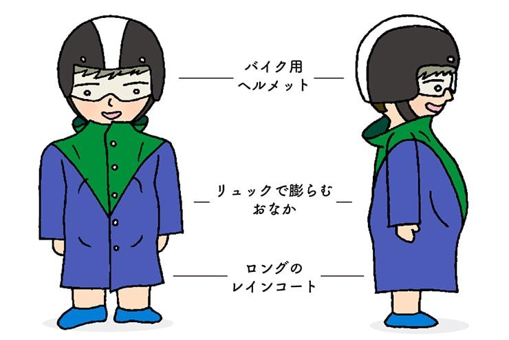 台湾男子の胸キュンスタイル「雨の日スクータースタイル」