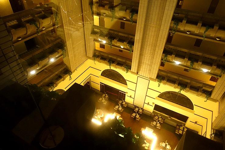 新竹の豪華ビジネスホテル「新竹福泰商務飯店 Forte Hotel Hsinchu」のダブルルームから見えるレストラン