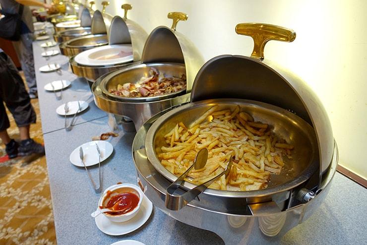 新竹の豪華ビジネスホテル「新竹福泰商務飯店 Forte Hotel Hsinchu」の朝食バイキング(洋食)