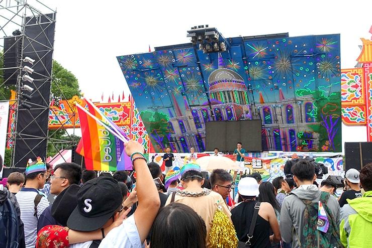 台灣同志遊行(台湾LGBTプライド)2016の会場