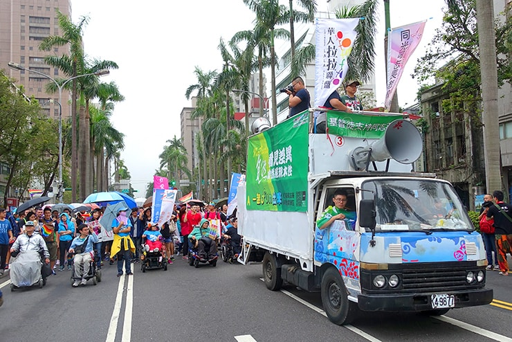 台灣同志遊行(台湾LGBTプライド)2016のパレードカー