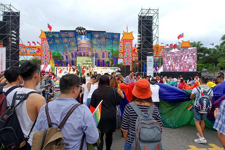台灣同志遊行(台湾LGBTプライド)2016パレード後の会場