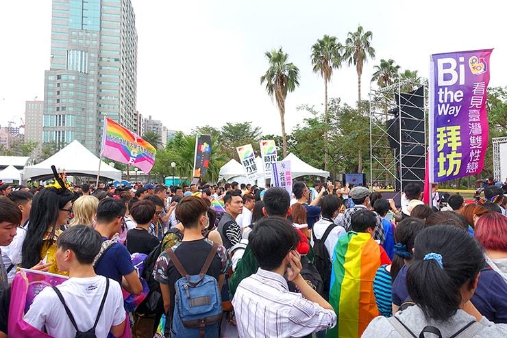 高雄同志大遊行(高雄レインボープライド)2016の会場