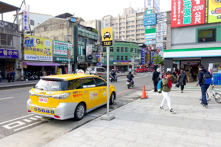 台鐵(台湾鉄道)台中駅前のタクシー乗り場