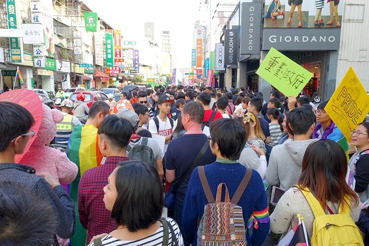 台中同志遊行(台中LGBTプライド)2016パレードの隊列