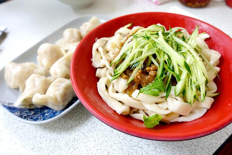 台北・科技大樓「大李水餃」の炸醬麵(ジャージャー麺)