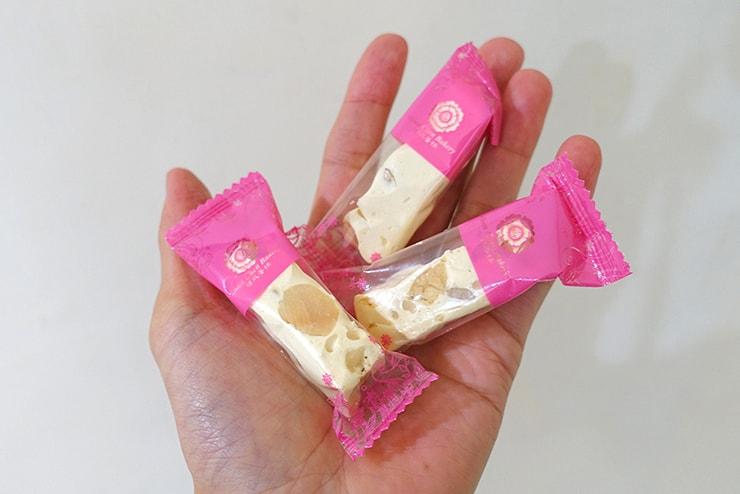台北駅のおすすめおみやげ「順成蛋糕」の牛軋糖(ミルクヌガー)小分けパック