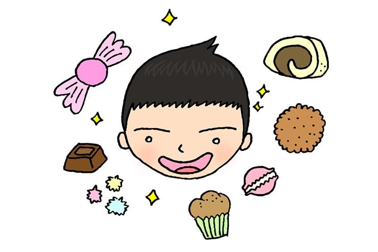 お菓子に目がない台湾人彼氏