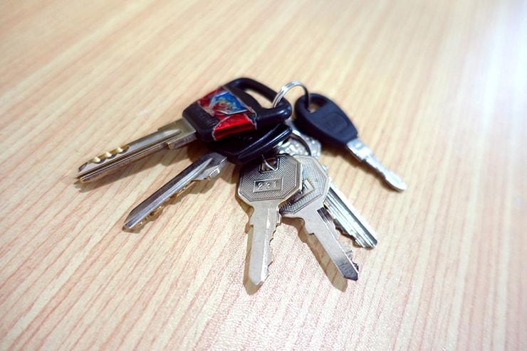 台湾で持ち歩いている家の鍵