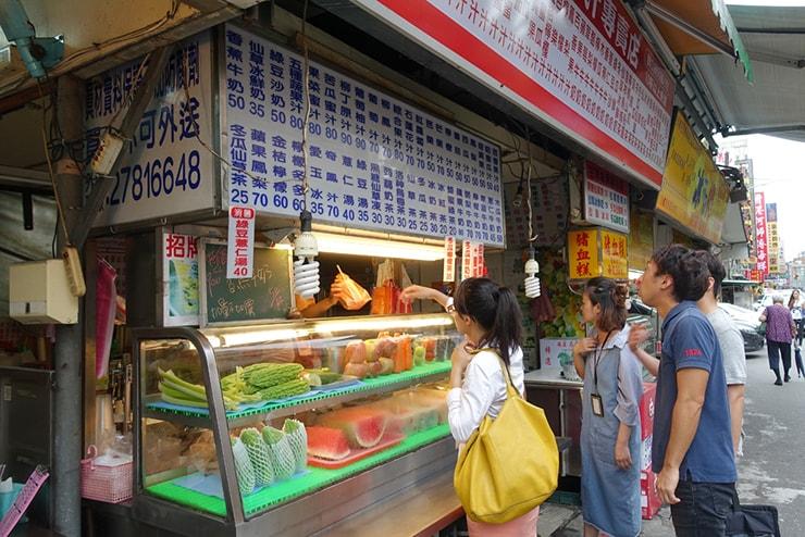 台北・遼寧街夜市「祥好喝現打果汁專賣店」の外観