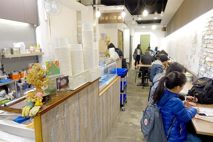 台北・樂華夜市「阿爸の芋圓」の店内
