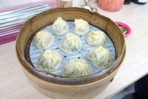 台北・臨江街夜市「正好鮮肉小籠湯包」の湯包