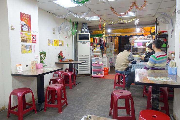 台北・臨江街夜市「冰世界」の店内