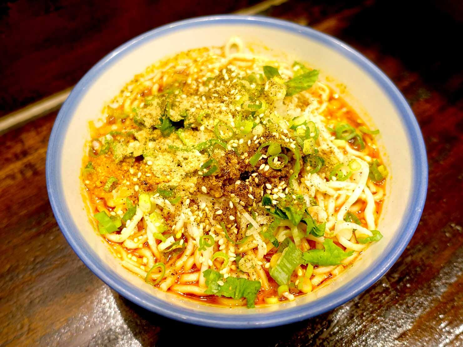 台北・遼寧街夜市のおすすめグルメ店「蘭芳麵食館」の蘭芳花椒麵