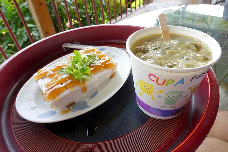 高雄・美濃の人気観光スポット「高雄美濃民俗村」でいただける客家擂茶と花生豆腐