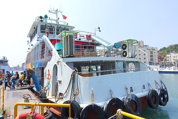 高雄・西子灣から旗津へのフェリー