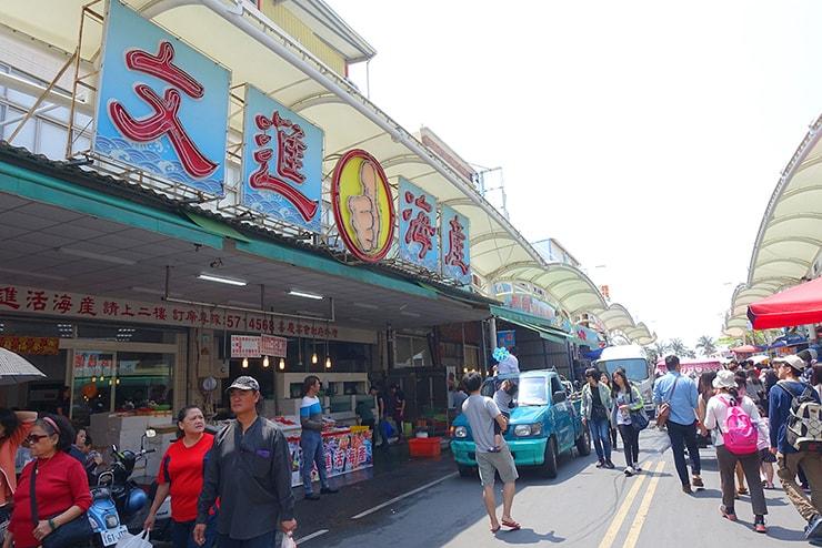 高雄・旗津の海鮮料理街