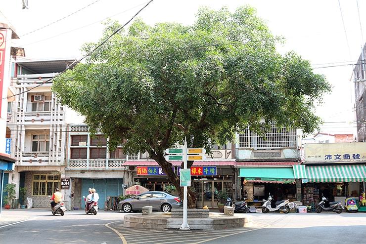 高雄・美濃の大きな木が植わった集落