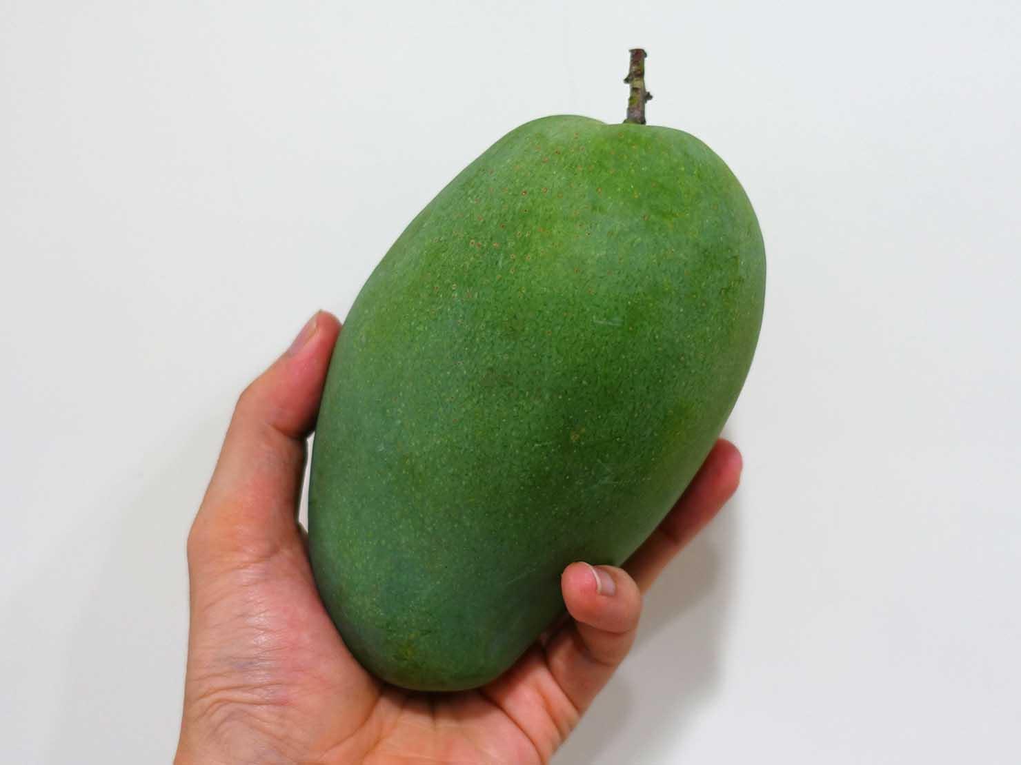 台湾のちょっと珍しい緑のマンゴー「烏香芒果」が熟れる前