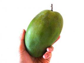 台湾のちょっと珍しい緑のマンゴー「烏香芒果」が熟れた後