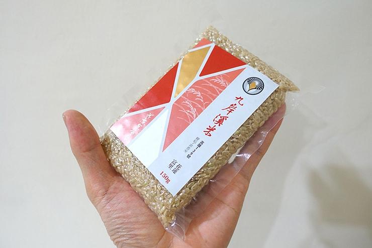台北・迪化街のお米屋さん「葉晋發」の台湾米小分けパックの大きさ