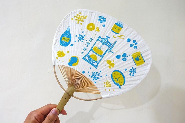 台北・迪化街の布雑貨屋さん「印花樂 in Bloom」の美濃手工布扇