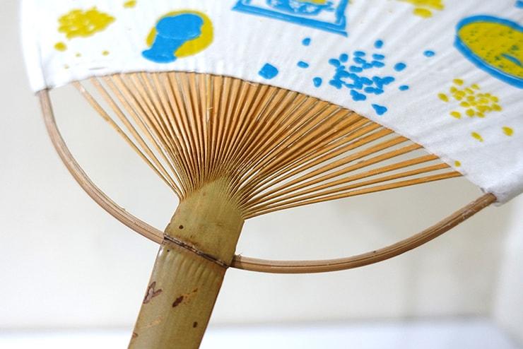 台北・迪化街の布雑貨屋さん「印花樂 in Bloom」美濃手工布扇の持ち手部分