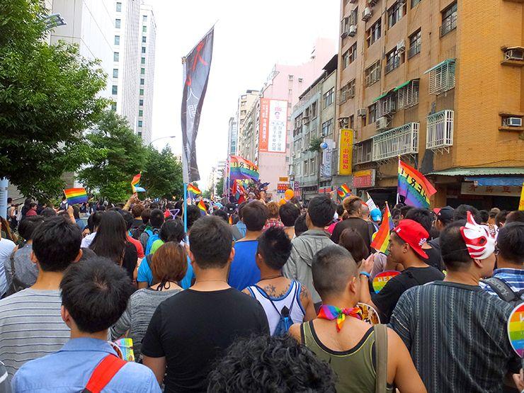 台湾LGBTプライドのパレード隊列